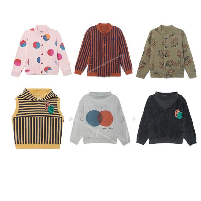 08214d5d6af Bobo Choses 2018 Autumn Jacket Boys Cardigan Menina Girls Rainbow Yin Yang  Happy Sad Buttons Sweatshirt Coat Baby Cotton Clothes