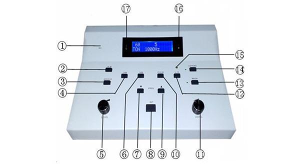 Ouvido espião máquina de teste De Diagnóstico portátil Transporte da gota AD-3A audiômetro preços no cuidado da orelha