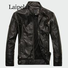 Laipelar Mens Leather Jackets High Quality Classic Motorcycle Bike Cowboy Jacket Male Plus Velvet Thick Coats Brand Clothing mens pu leather jacket male business casual coats thick coats slim clothes jackets men cowboy jackets classic motorcycle bike