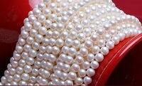 Оптовая продажа (AAAAA высокое качество) 5 5.5 мм/5.5 6 мм естественный пресноводный белый фиолетовый цвет жемчуг круглый Бусины 40 см для ювелирных