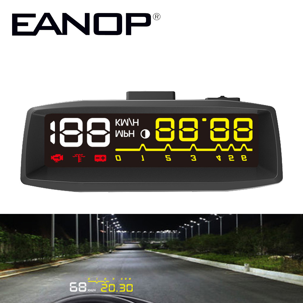 EANOP EN-SMART Car HUD Head up Display OBD II EOBD Auto Digital Car Speedometer For Audi a6 c6 Toyota Ford s05 4 lcd hud head up display system w speedometer obd ii cable for car black
