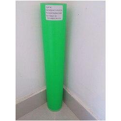 (50cm x 25M/Roll) PU Flex Neon Grün Farbe Wärme Transfer Papier Vinyl Für Kleidung PU Vinyl Film für T shirts Eisen auf Vinyl aufkleber