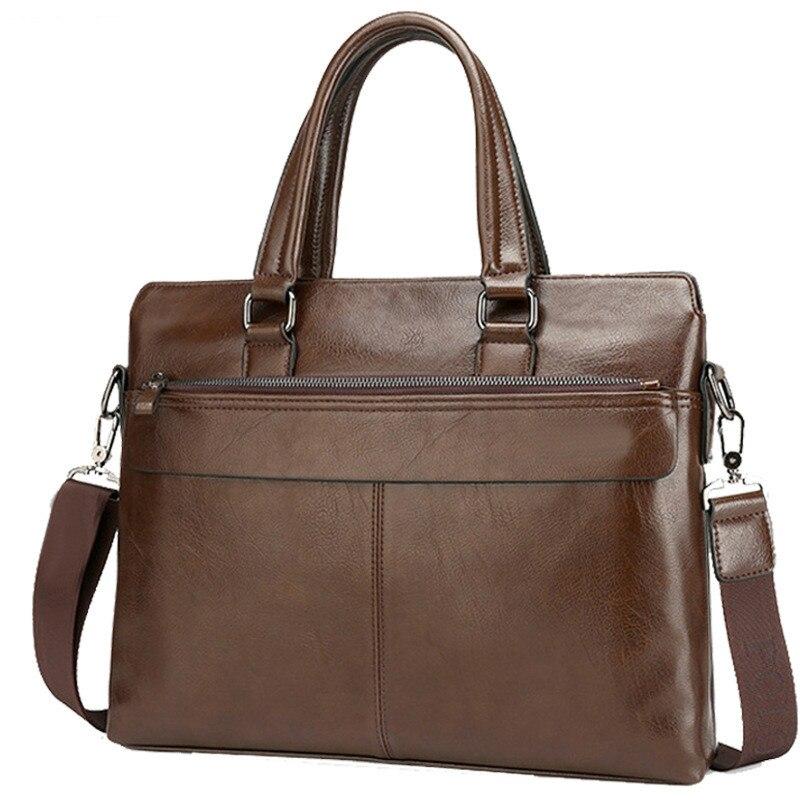 Nouvelle mode Véritable Hommes Porte-Documents Vintage D'affaires de sac d'ordinateur De Mode sacs de postier Homme sac à bandoulière Facteur Mâle Sacs À Main