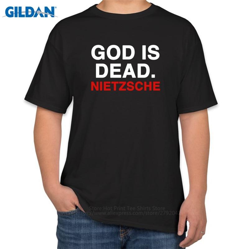 T Shirt Shop Online Crew Neck Men Short-Sleeve Best Friend God Is Dead Nietzsche Shirts