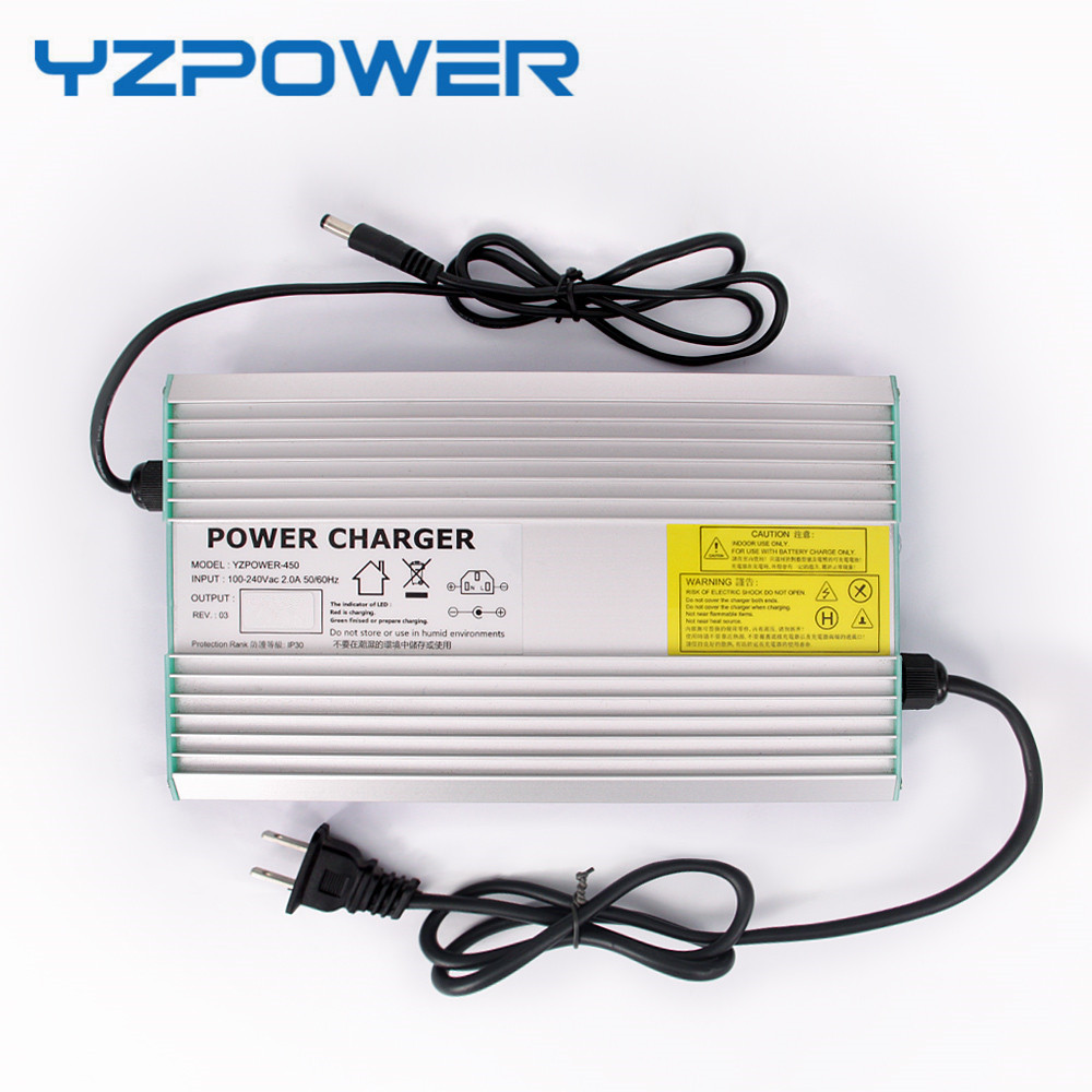 YZPOWER 42V 10A Lithium Battery Charger For 36V Electric Bike Scooter Aluminum Metal Case Fast Charger intocircuit® new 36v 1 5a 1500ma electric bike motor scooter battery charger power supply adapter for gt gt750 electric scooter