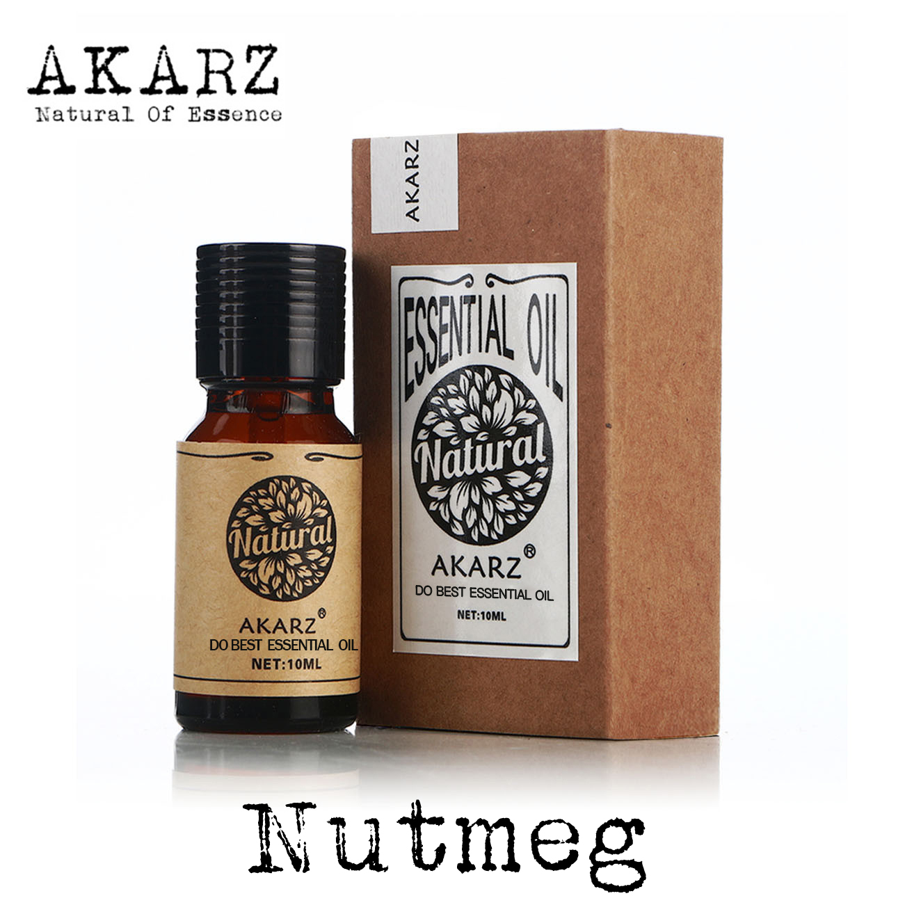 AKARZ Famous brand natural nutmeg essential oil massage Relieve neuralgia stimulate the circulation of blood nutmeg oil akarz famous brand natural angelica oil dilation of blood vessels promoting hepatocyte regeneration angelica essential oil