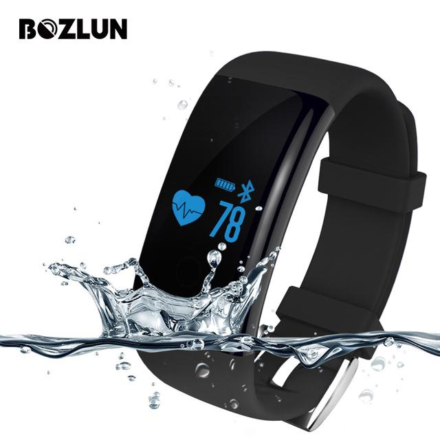 Bozlun d21 hombres mujeres pulsómetro pulsera inteligente llamada mensaje recordatorio reloj de moda del reloj del deporte ios android reloj