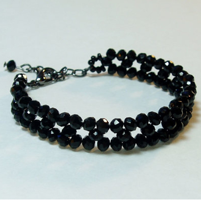 Black Beads Weave Ankle Bracelet Beaded Bracelets For Women Foot Chain Body Jewelry Gift