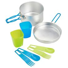 Light Camp Kitchen Outdoor Picnic Pot With 1 Or 2 people Tableware Cookware Sets Aluminum Dish