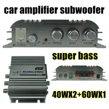 hot sale 12V subwoofer amplifier 2.1 Channel audio Amplifier Radio MP3 Stereo fo