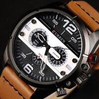 Curren 8259 최고 브랜드 창조적 석영 시계 남성 럭셔리 캐주얼 쿼츠 시계 간단한 디자이너 패션 스트랩 시계 남성 새로