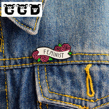 CCD Fashion Rose Alloy Lapel Badge Koboi Mantel Ransel Bros Pin Keras Enamel Kerah Pin Bros Kartun Kepribadian Perhiasan(China)