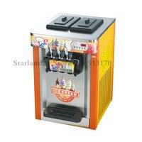 Commercial Ice Cream Machine Desktop Soft Ice Cream Maker Three Flavors Capacity 22~25L/H 220V 1950W