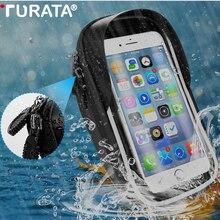 TURATA водонепроницаемый велосипедный мотоциклетный держатель для телефона поддержка телефона для Moto стенд сумка для iPhone X 8 плюс gps Держатель для велосипеда Чехол
