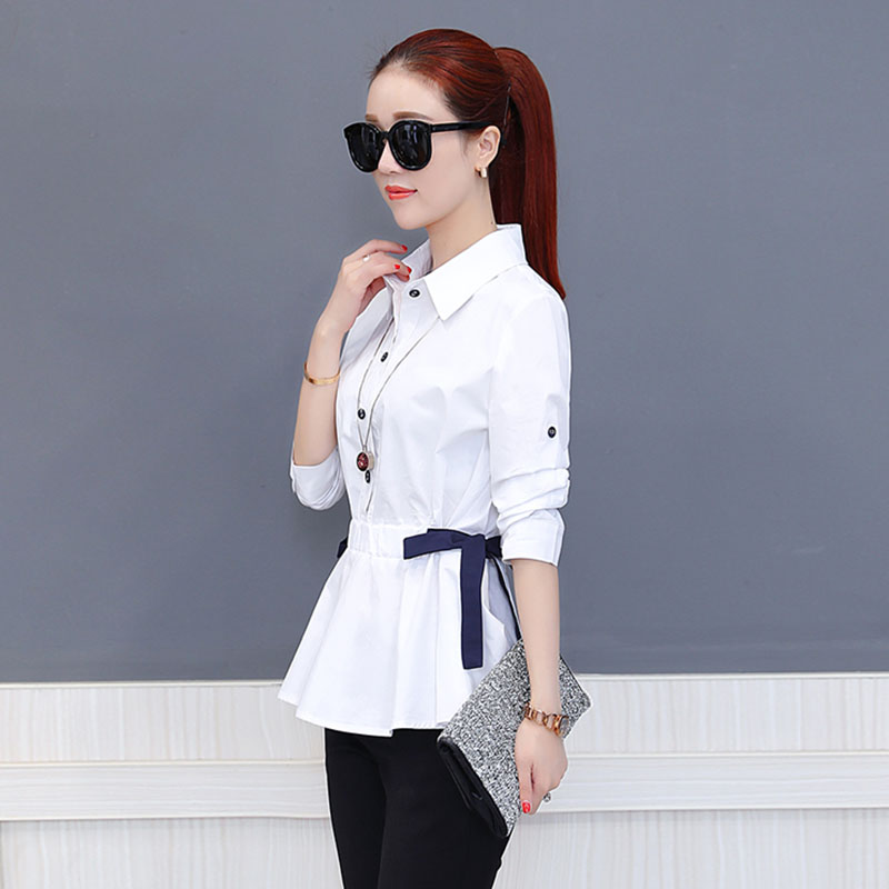 Office Work Wear Women Spring Summer Style Chiffon Blouses Shirts Lady Casual Bow Tie Sashes Blusas Tops DD1773