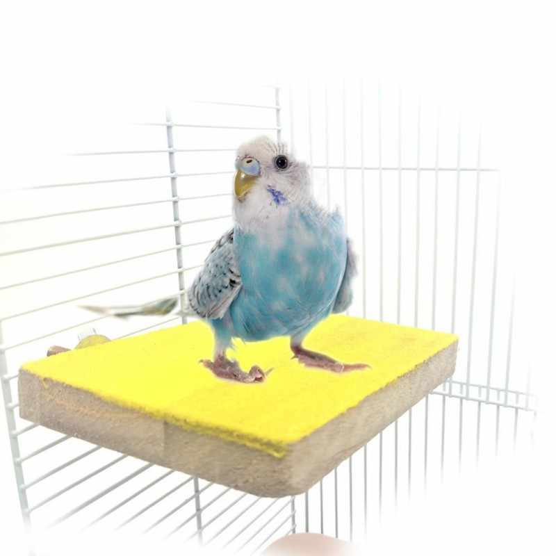 Pet Supplies Bird Stand Platform Playground Natural Wood Paw Grinding Clean for Parrots Cage Accessories Exercise Bird Toys