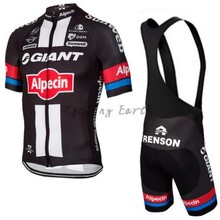 Giant Alpecin 2016 2 short sleeve cycling jersey bib shorts shirt set sport clothes jersey MTB