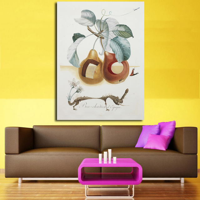 Large size Print Oil Painting Wall painting Fruits Salvad Dali Home ...
