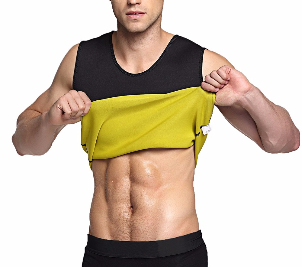 5777fd46c4478 Slimming male Vest Neoprene body Shaper Men T shirt sweat suits waist Belt  Waist Trainer tights Corsets Shapers shapewear New-in Running Vests from  Sports ...