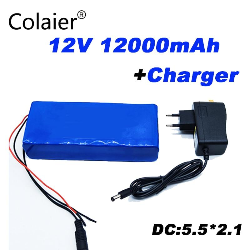 2018 Colaier 12 V 12Ah 18650 batterie 12 V batterie faire 12000 mAh 10C Batteries rechargeables pour lumière LED d'alimentation de secours numérique