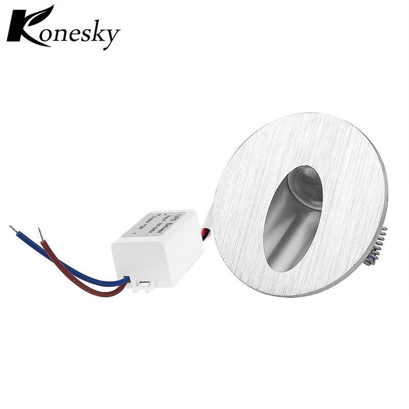 Warm White Led Wall Lamp Round LED Recessed Porch Pathway Step Stair Light Wall Lamp Basement Bulb AC85-265V
