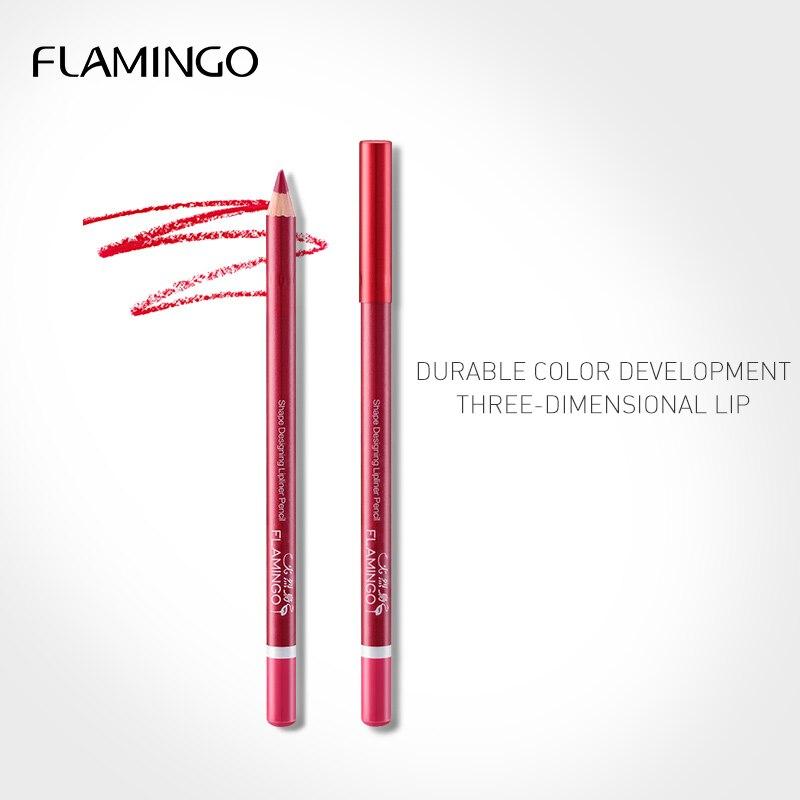 Flamingo 6Colors Lip Pencil Long-lasting Party Queen Sexy Matte Lip Stick Lipliner Lightweight Beauty Makeup Tool Cosmetic35002