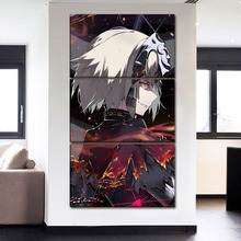 3 Panel Canvas Art Modern Home Decor Print HD Picture Anime Fate Grand Order Girls Poster For Bedroom Wall Framework