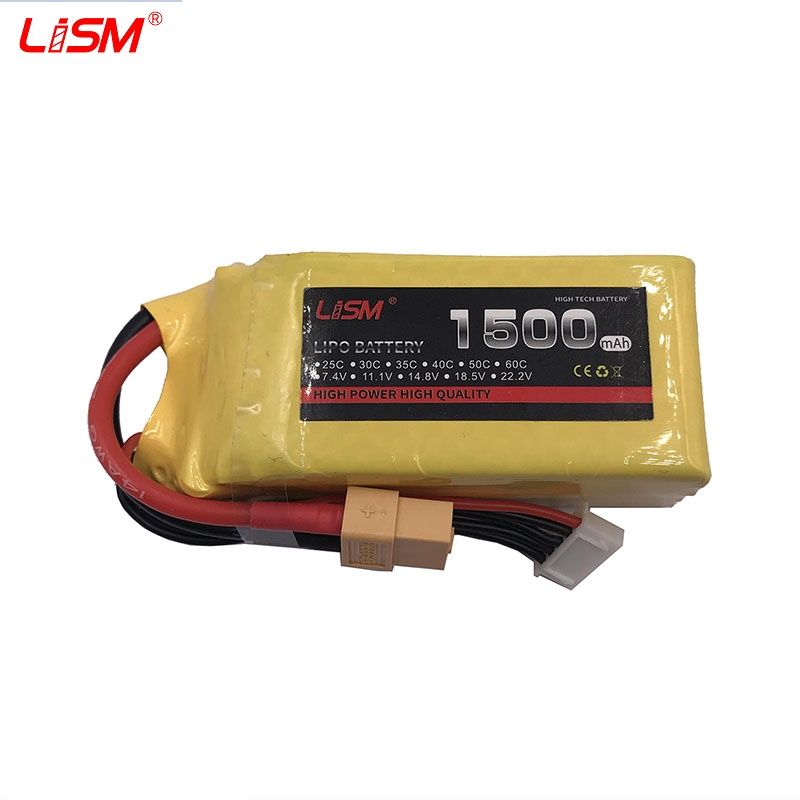 4S 14 8V 1500mAh 30C Max 60C RC LiPo battery For RC Helicopter Drone Airplane Quadrotor