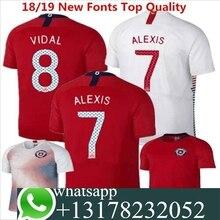 1b7d89ef6 2018 adultos T-shirt Camisa Chile 2018 camisa 2019 camisas dos homens de Melhor  Qualidade