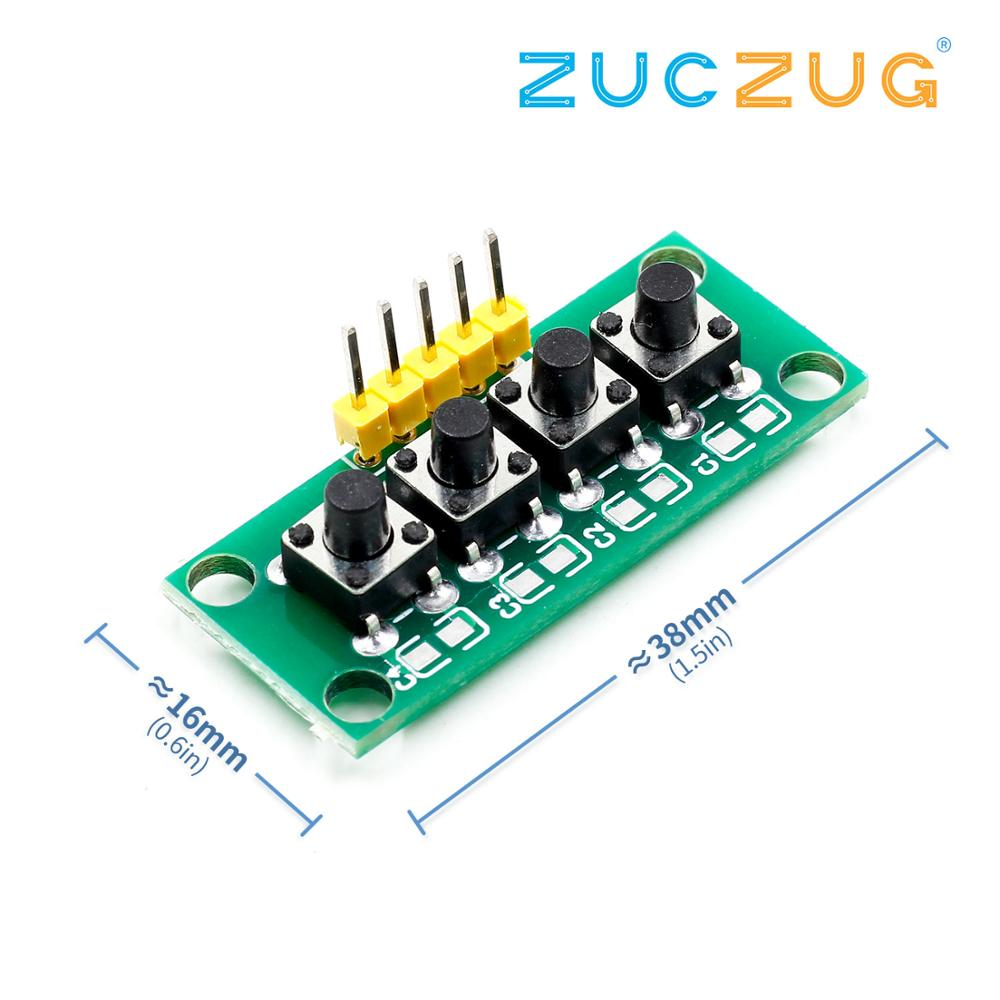 DIY Kit 1x4 4 Independent Key Button Keypad Keyboard Module Mcu for Arduino Student Class Design Graduation Project Experiment(China)