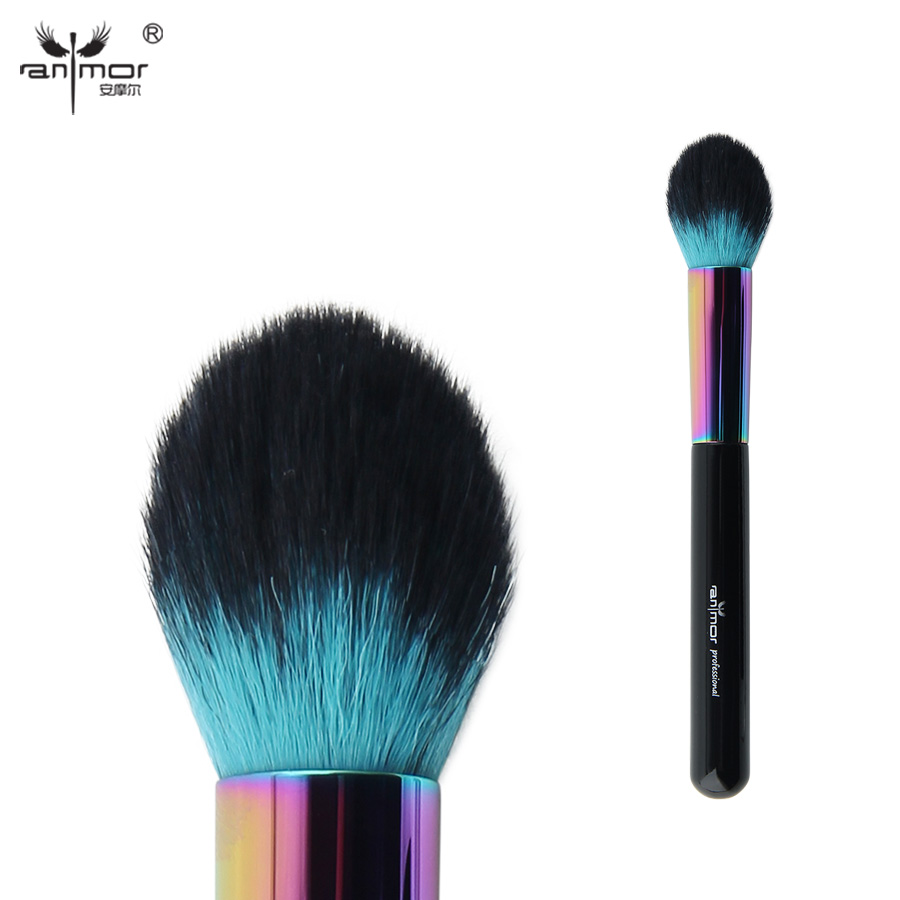 Anmor Colorful Tapered Face Brush Professional Makeup Brushes For Powder Blusher Cosmetics CFCA-A10 румяна perfect powder blusher 05 isadora