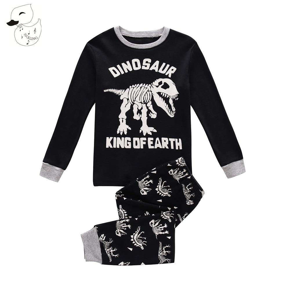 FleißIg Biniduckling Frühling Baby Jungen Nachtwäsche Pyjama Sets 100% Baumwolle Dinosaurier Gedruckt Lange T-shirt + Hosen Kinder Kinder Kleidung Mangelware