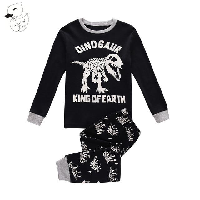fc7b9942a BINIDUCKLING Spring Baby Boys Sleepwear Pajama Sets 100% Cotton ...