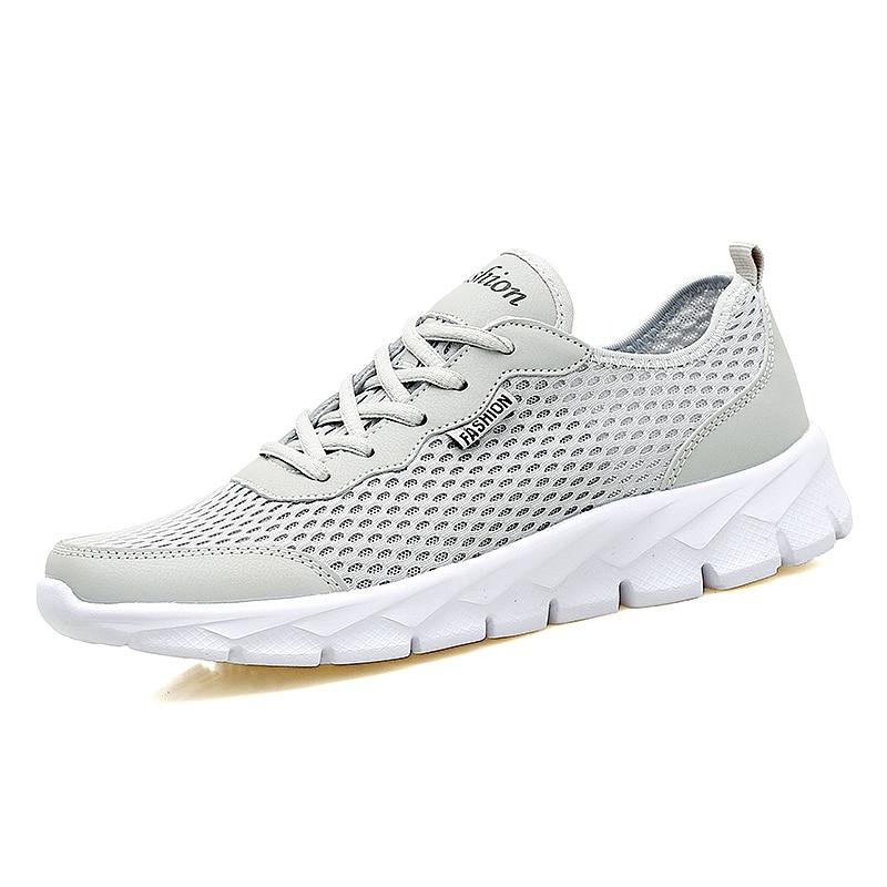 2017 Amante Barato Hombres Mujeres Deporte Zapatillas de deporte de malla de Malla Transpirable zapatos de atleti de Verano Zapatillas de deporte de Peso Ligero Jogging Zapatos de Gran Tamaño