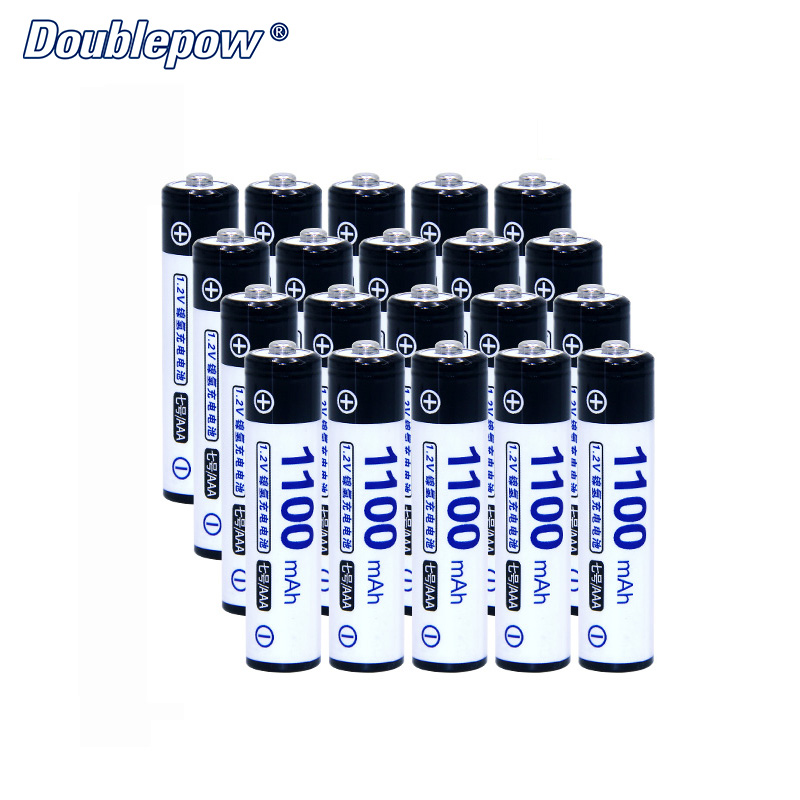 20pcs/Lot Doublepow DP-AAA1100mAh 1.2V Ni-MH rechargeable battery in Actual High Capacity of 1100mAh Battery Cell FREE SHIPPING