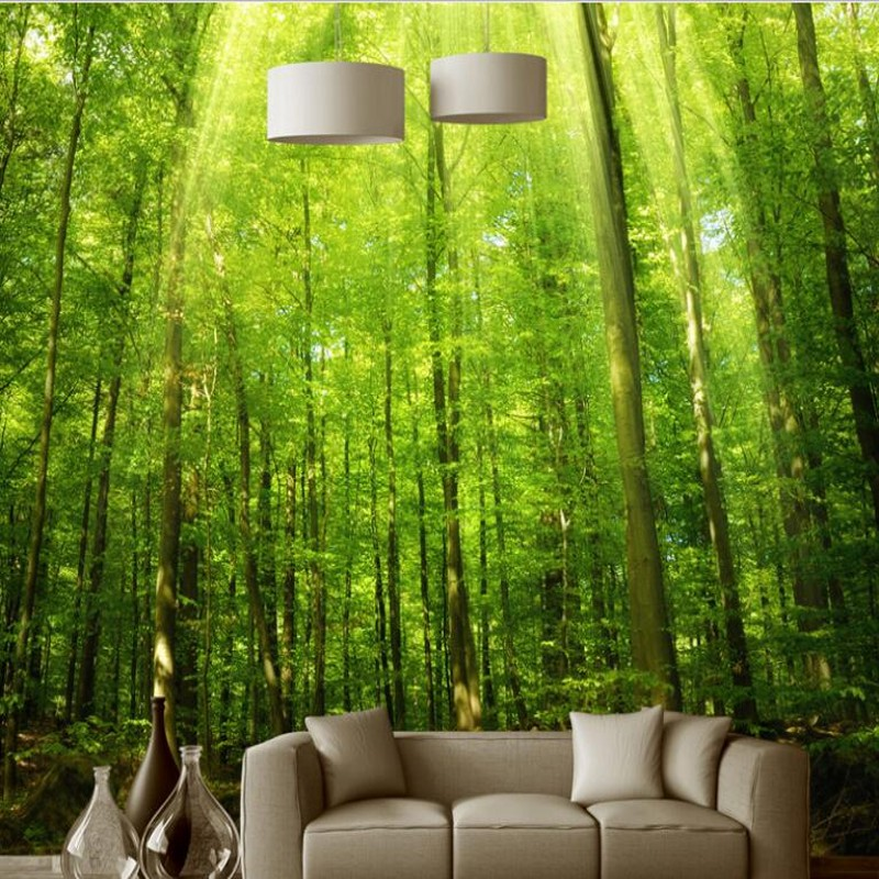 beibehang Custom large - scale murals naked eye 3D trees background wall paintings  wallpaper papel de parede para quarto