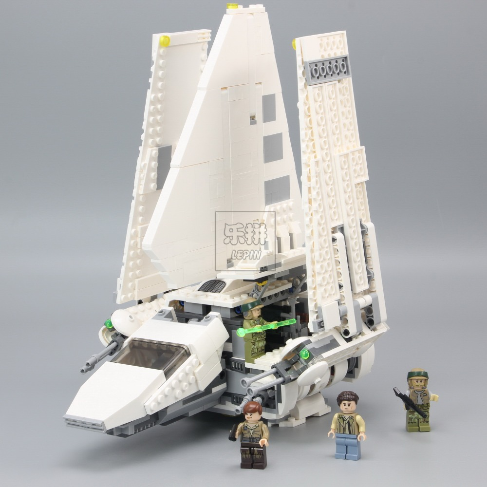 Lepin 05057 937Pcs New Star Series The Imperial Shuttle Set Model Building Kit Blocks Bricks Toy Compatible Gift With 75094 wars lepin 05057 977pcs star series war new the legoing the fighting shuttle set model building kit blocks bricks toy gift with 75094