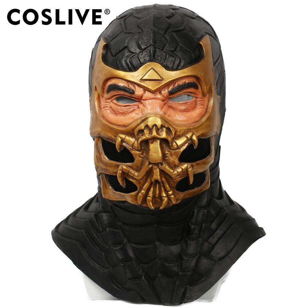 COSLIVE Scorpion Mask Mortal Kombat 9 Game Cosplay Helmet ...