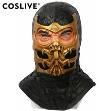 COSLIVE Scorpion Mask Mortal Kombat 9 Game Cosplay Helmet Halloween fancy dress Outfit Props Adult Carnival show Dress