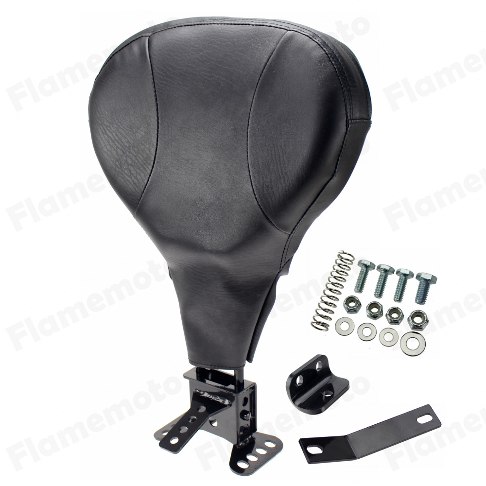 Motorcycle Adjustable Driver Rider Backrest For Harley Street Electra Road Glide King Touring FLHR T X Back Rest 09-UP