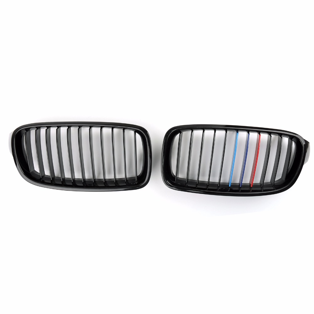 Areyourshop Car Mesh Front Grille Nose For BMW 3 Series F30 F35 2012-2016 Gloss Black M Colour Car Styling Covers Grille front car bumper mesh grille for 2014 chery tiggo 5 car front mesh grill