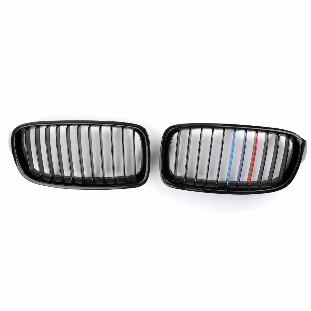 Areyourshop Voiture Maille Calandre Nez Pour BMW 3 Série F30 F35 2012-2016 Brillant Noir M Couleur Car Styling Couvre Grille