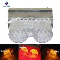 Waase e-marcado traseiro taillight cauda freio sinais de volta blinker integrado luz led lente clara para 1998 1999 yamaha yzf r1 rn01