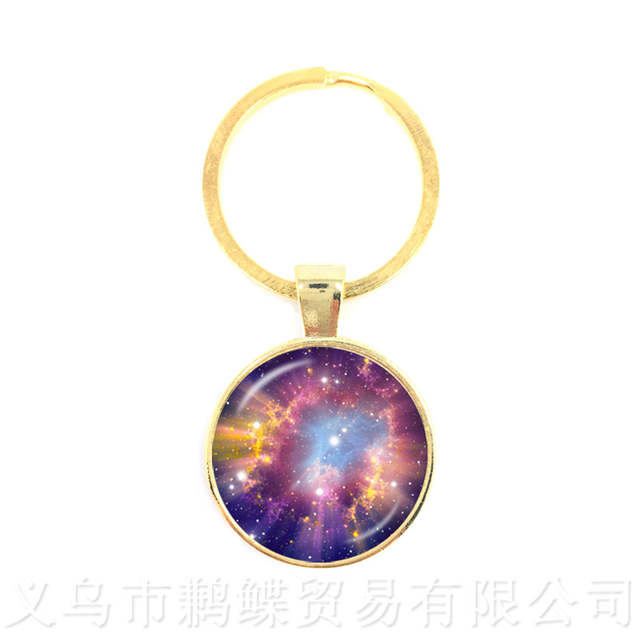 Galaxy And Star Keychains Nebula Space Jewelry Planets Colorful Galaxy Star Spcace Women Men Keyring Key Chains Aliexpress