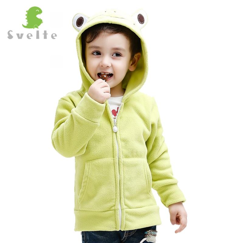 Svelte Brand Fall Winter Spring Coat Girls Boys Kids Fur Coat Fleece Hooded Jacket Clothes Children Animal Sweatshirts Jersey