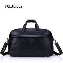 Genuine Leather Men Bags business Laptop Briefcase Portfolio Fashion crossbody Men Messenger Bags Shoulder Men's Travel Bag
