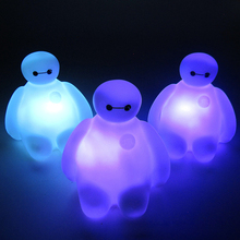 Creative 7 Color Changing Big Hero 6 BayMax LED Night Light baby bedroom Decoration Table Lamp Amazing Children Kids Baby Gift
