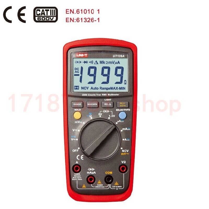 2015 New UNI-T UT139A True RMS Digital Multimeters AC DC Voltage and Current Auto Range test measurement