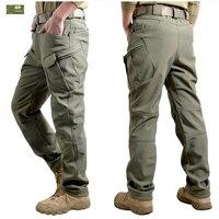 HANWILD Men Winter Waterproof Fishing Tactical Shark Skin SoftShell Hiking Military Pant Man Army Hunting Camping Trousers P44
