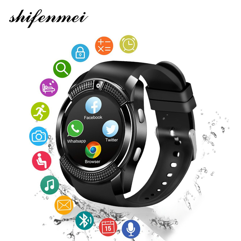 Bluetooth Smart Watch 1.22 inch Round Screen Support SIM Card Camera SmartWatch for Samsung Android Smartphone Y1 A1 DZ09 2018 цена